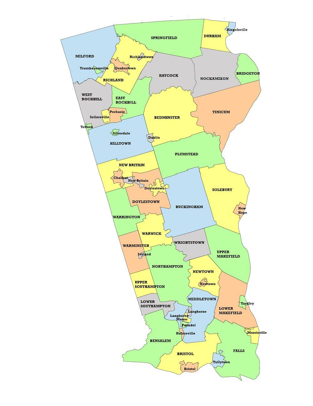 Bucks County Map large_map.jpg (1000×1294) County map