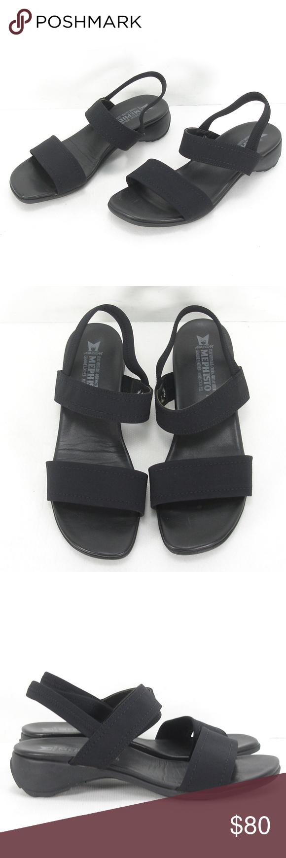 Mephisto air relax fabric slingbacks sandals 39
