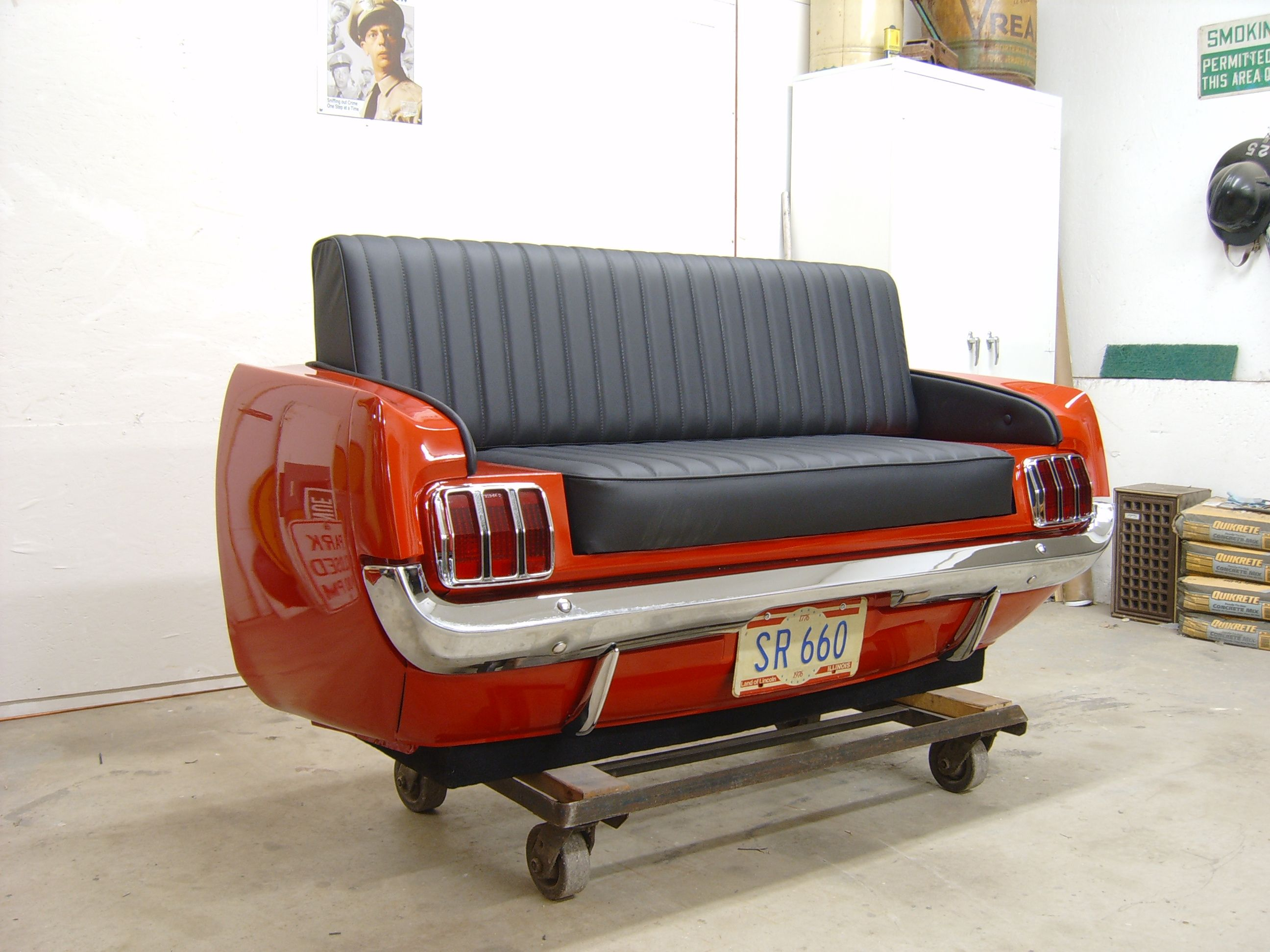 Auto Sofa 65 Ford Mustang Couch They Start At 3000 Bucks Ahhh