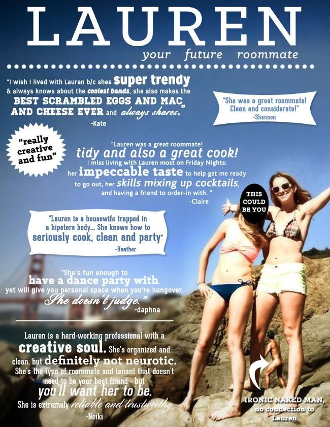graphic designer creates roommate ad to shame all roommate ads