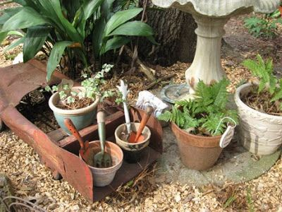 Prairie Thistle: Fun Container Gardening-what to do with old tools