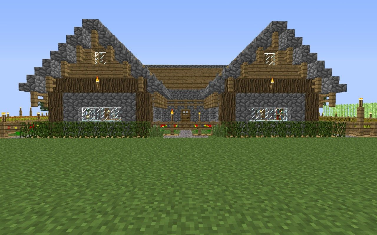 Farmhaus / ranch house Minecraft Project  House styles, Ranch