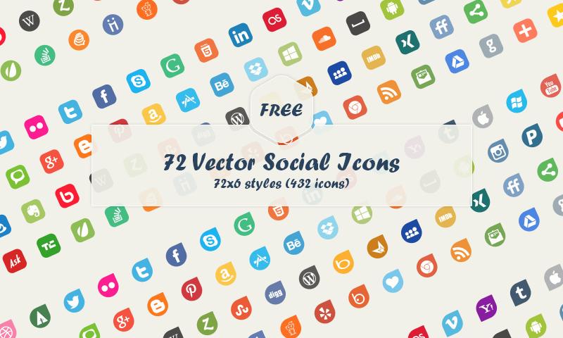Free Download 90 Vector Social Media Icons Social media