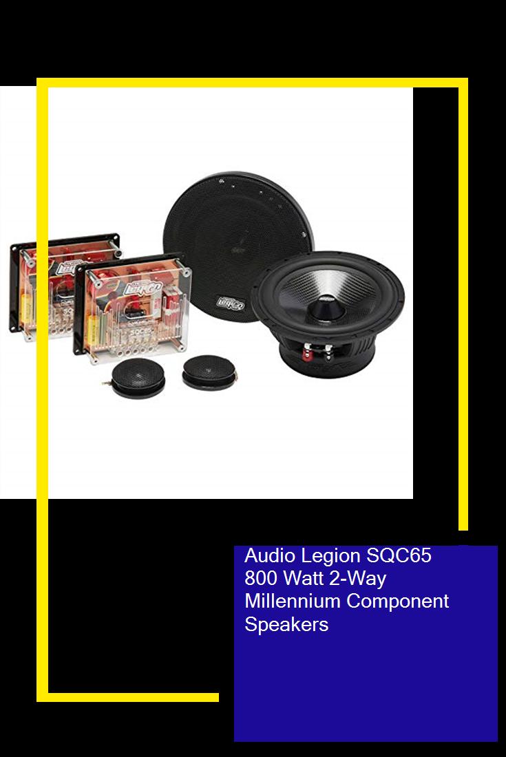 Audio Legion Sqc65 800 Watt 2 Way Millennium Component Speakers Speaker Component Speakers Audio