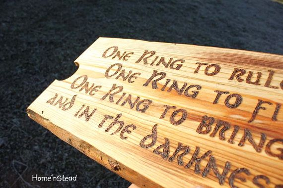 One Ring To Rule Them All Quote Page Number One Ring To Rule Them All Wall Hanging Lord Of The Rings Sign Plaque Rustic Wood Burned One Ring Verbiage Lotr