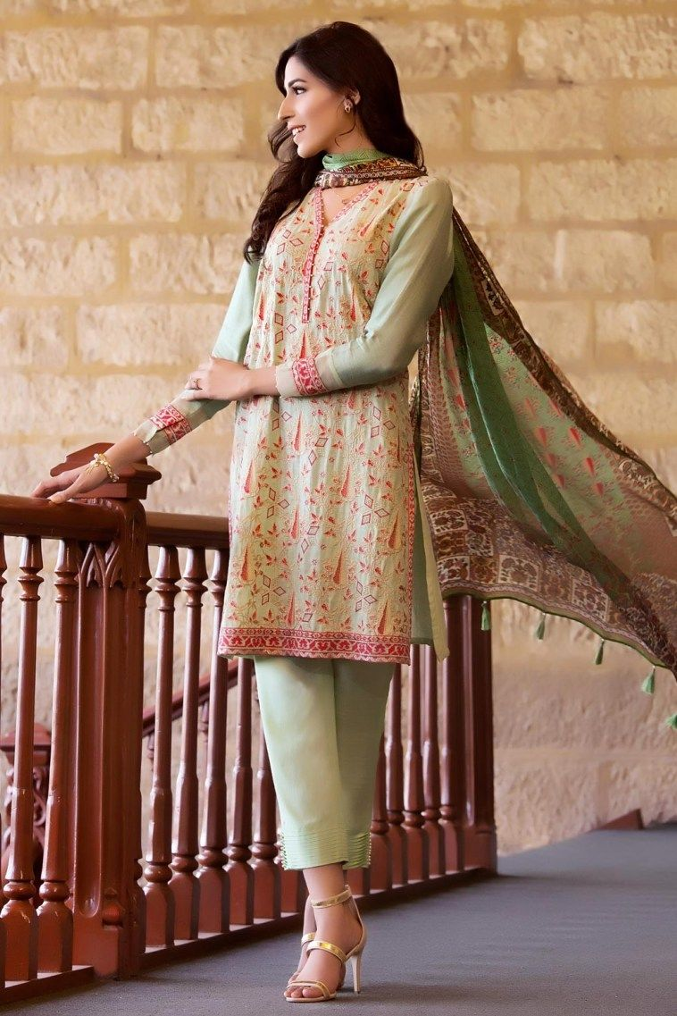 757e8254d Semi Formal Luxury Pret Pakistani Suit for Ladies by Zeen Eid ...