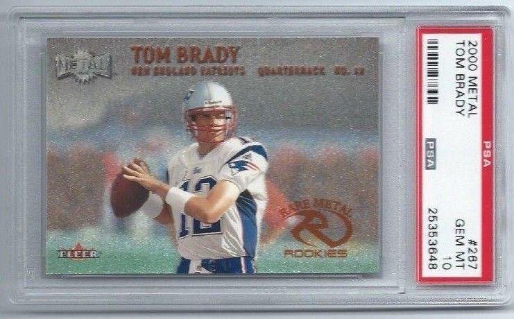 2000 Fleer Rare Metal 267 Tom Brady Rookie Card PSA 10