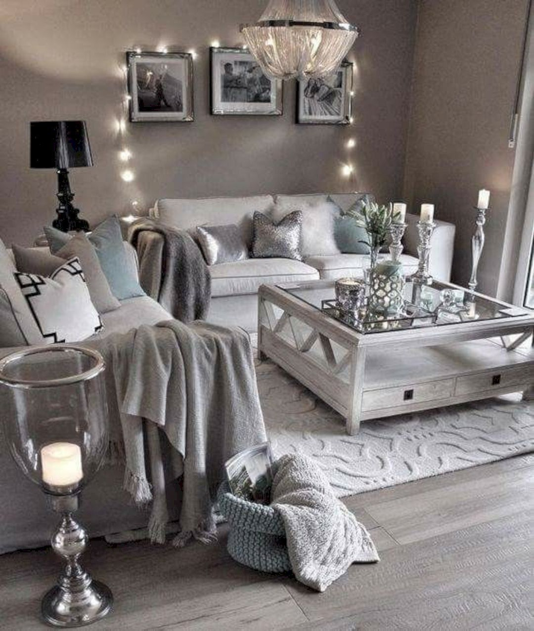 Are You Thinking Of Changing Your Decor See Some Silver Inspiration From Maison Valentina See More A Living Room Grey Farm House Living Room Chic Living Room