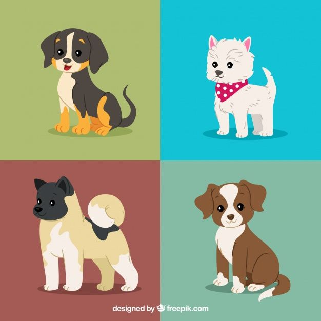 More Than A Million Free Vectors Psd Photos And Free Icons Exclusive Freebies And All Graphic Resources That You Puppy Drawing Dog Drawing Dog Illustration