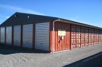 Image result for shipping containers span two Container Garages