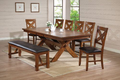 Acme 70000 Apollo Dining Table Distressed Oak Finish By Acme