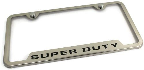 Ford Stainless Steel License Plate Frame F-250 F-350 F-450 Super ...