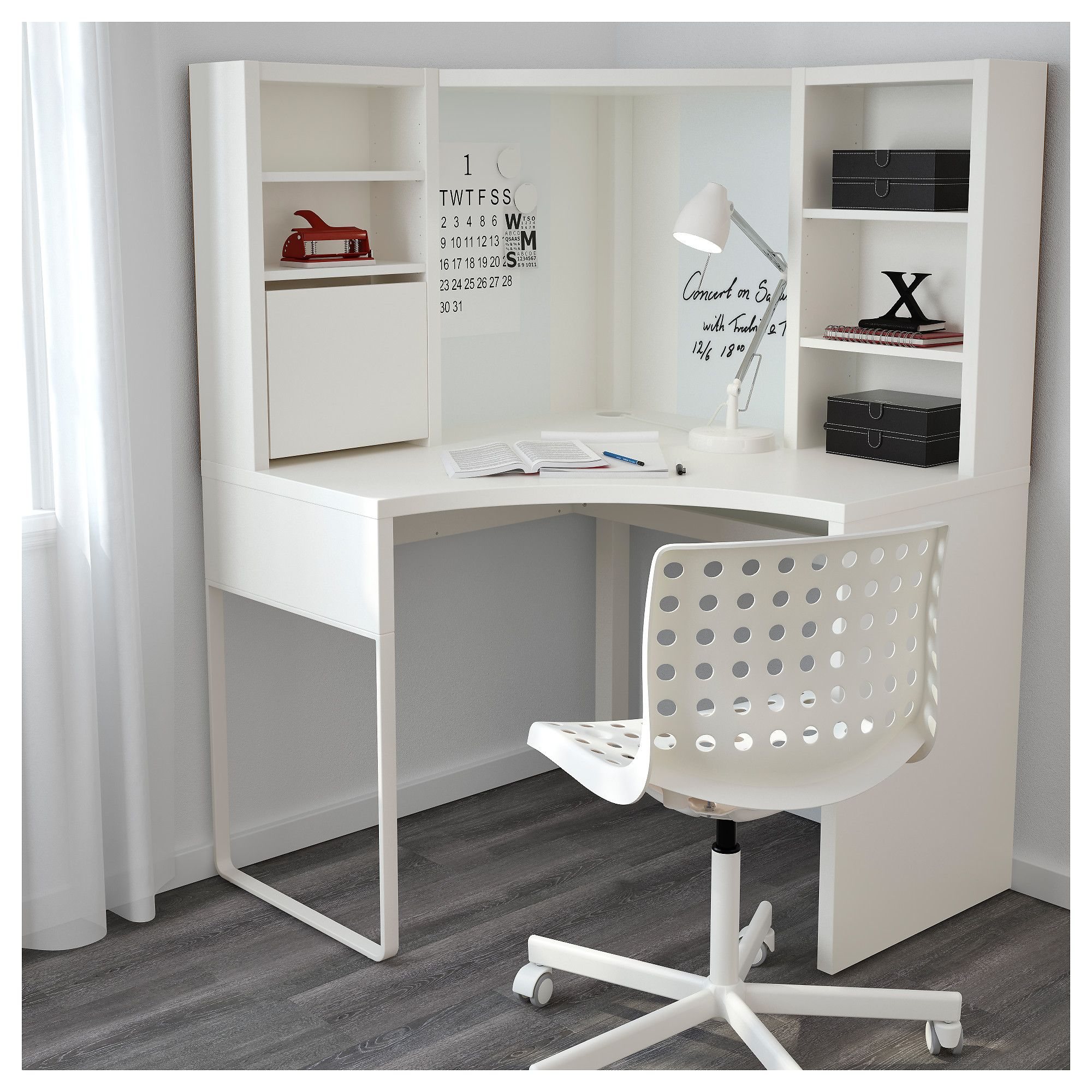 IKEA MICKE Corner work station white Corner
