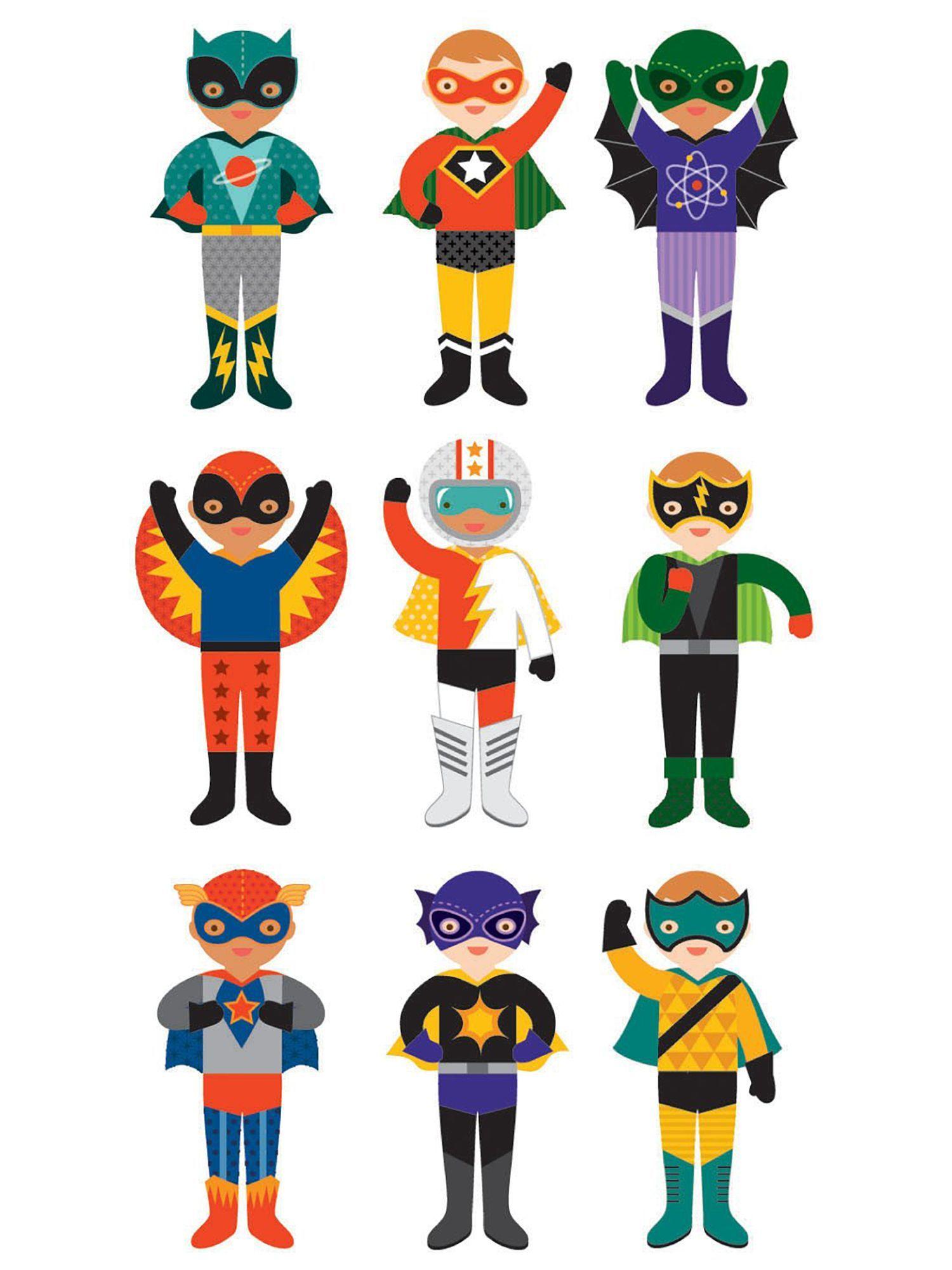 Petit Collage Magnetic Superheroes Costume Builder