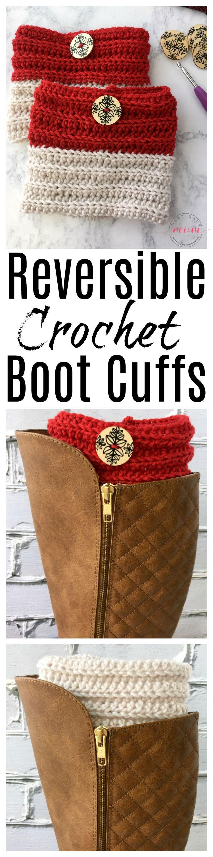 Trendy Beginner Crochet Boot Cuffs That Work Up Quick!   Tejido ...