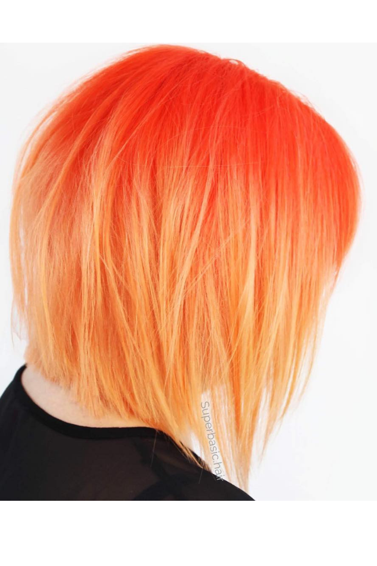 Superbasic Hair Arctic Fox Sunset Orange And Porange Arcticfoxhaircolor Ombre Haircut Haircolo Balayage Hair Hair Styles Braids For Long Hair