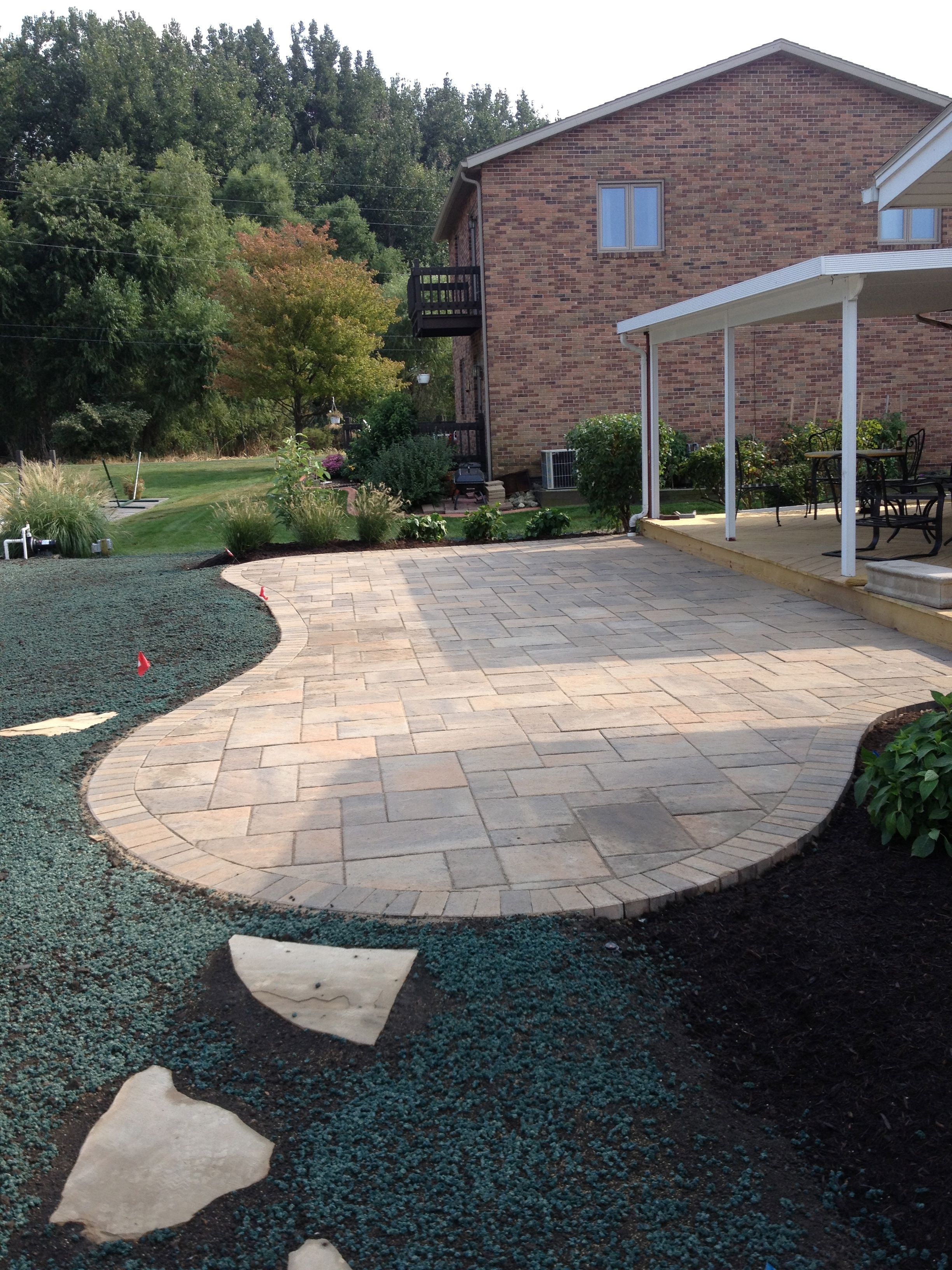 We Gave This Back Yard A Facelift With New Paver