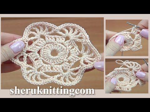 Simple Lace Crochet Element Tutorial 43 - YouTube #crochetelements