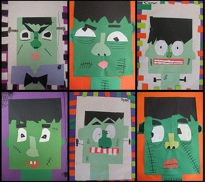 teaching in the early years halloween classroom art projects