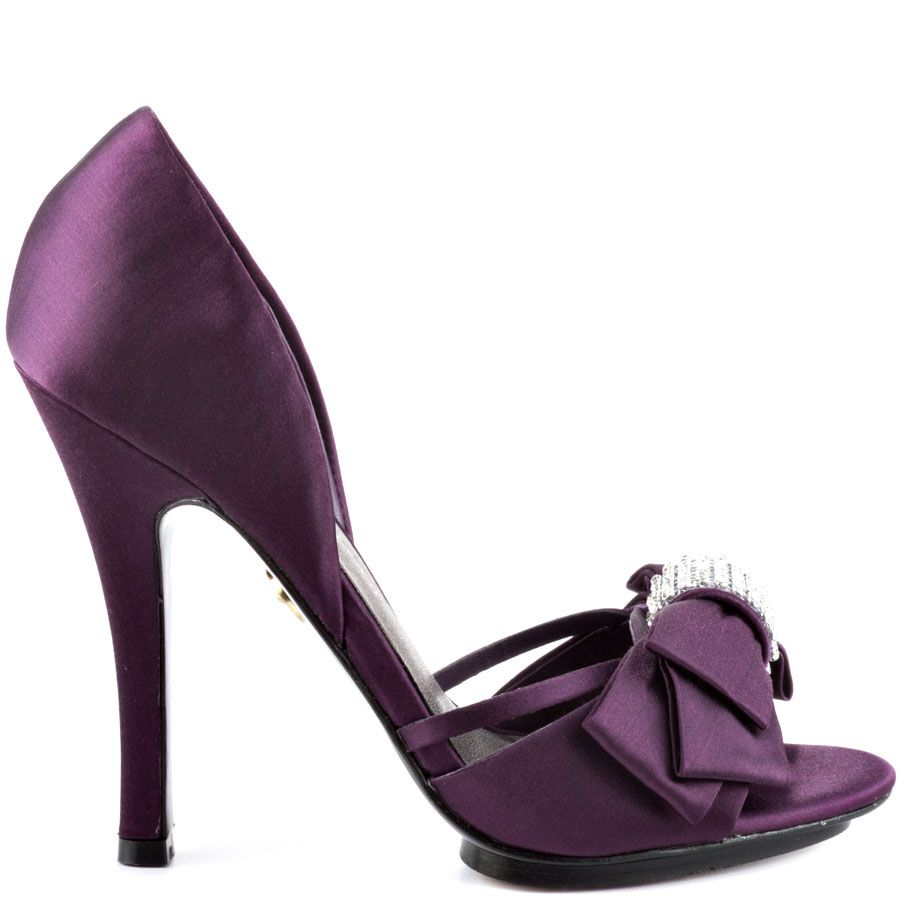 Captivating Yalissa   Plum Satin | Adrienne Maloof, Satin And Sandals Purple Wedding  Shoes 2 Inch