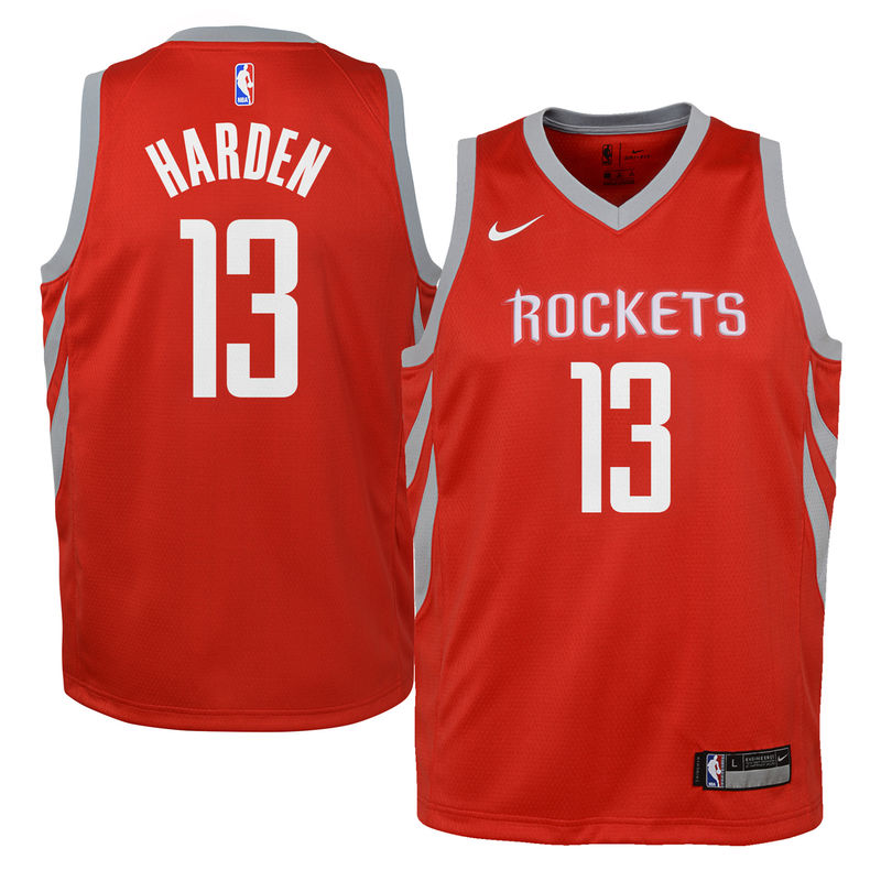 291249c38a4 James Harden Houston Rockets Nike Youth Swingman Jersey Red - Icon Edition