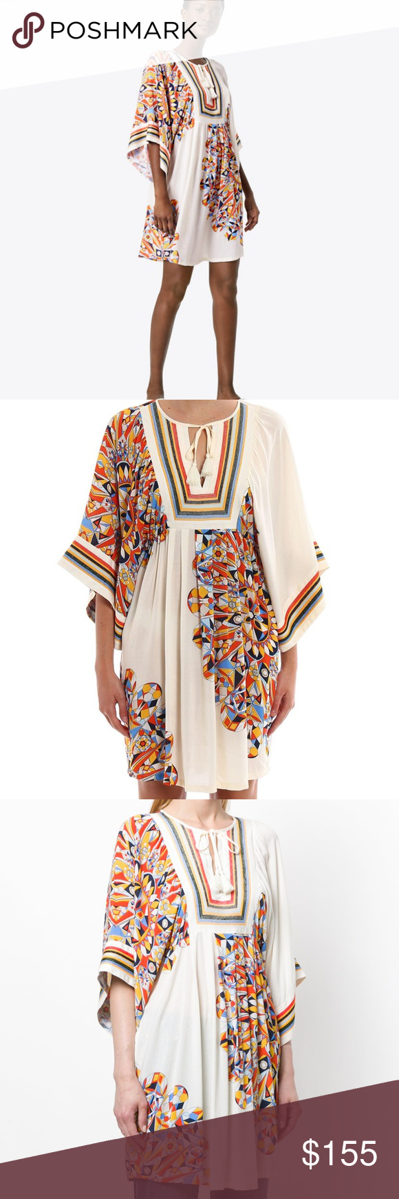 13022d8b97 Tory Burch Kaleidoscope Beach Tunic Cover-Up Detail:-New with tag Whether  you