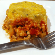 This is perfect for the winter time! Ground Turkey and Polenta Casserole, yum.... #thewholejourney #twj