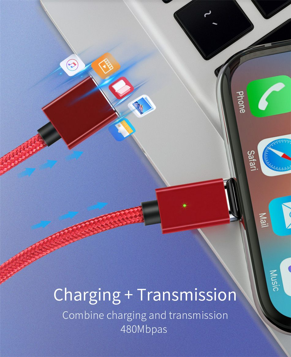 Essager Chargeur Magnetique Cable Micro Usb Pour Iphone Oneplus 6t Xiaomi Mi Max 3 Huawei Mate 20 Lite P30 P20 Pro Multi Usb Type C Charge C Usb Samsung Iphone