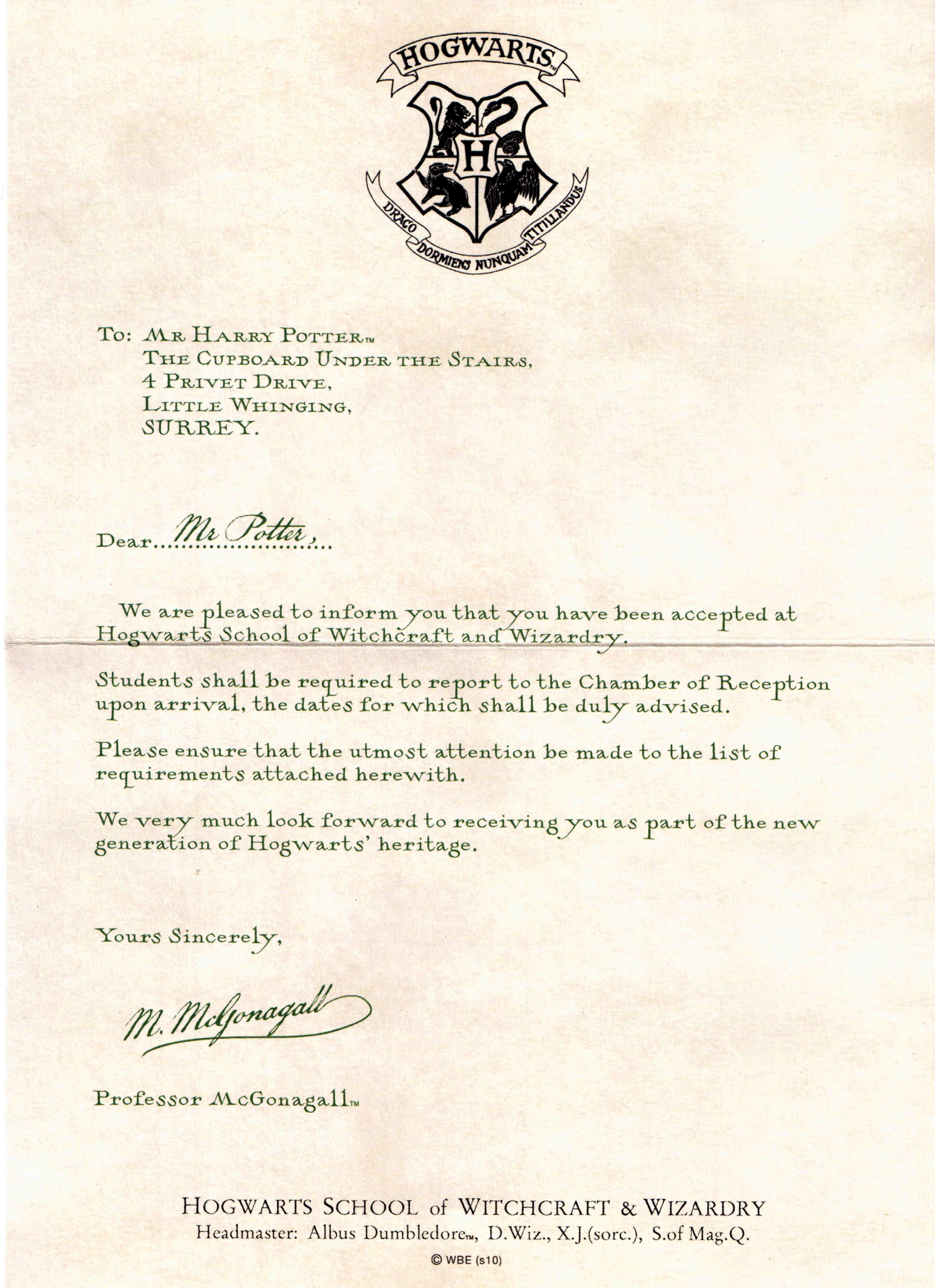 Hogwarts letter   Harry Potter art   Pinterest   Hogwarts letter ...