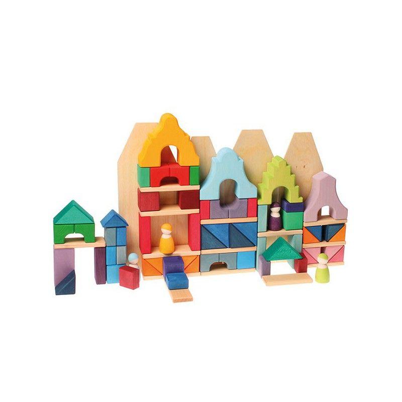 Casa Grande Lila - Bloques Arquitectónicos 4 X 4 Cm Grimm's Spiel Und Holz Design GRI-10142 Kinuma.com