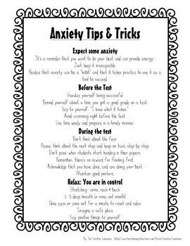 School CounselorTest Anxiety SelfAssessment  Coping Skills