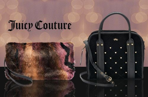 2d55965185 Γυναικείες τσάντες Juicy Couture σε 2 νέα σχέδια  σε βελούδο ή γούνα με  έκπτωση έως -40%