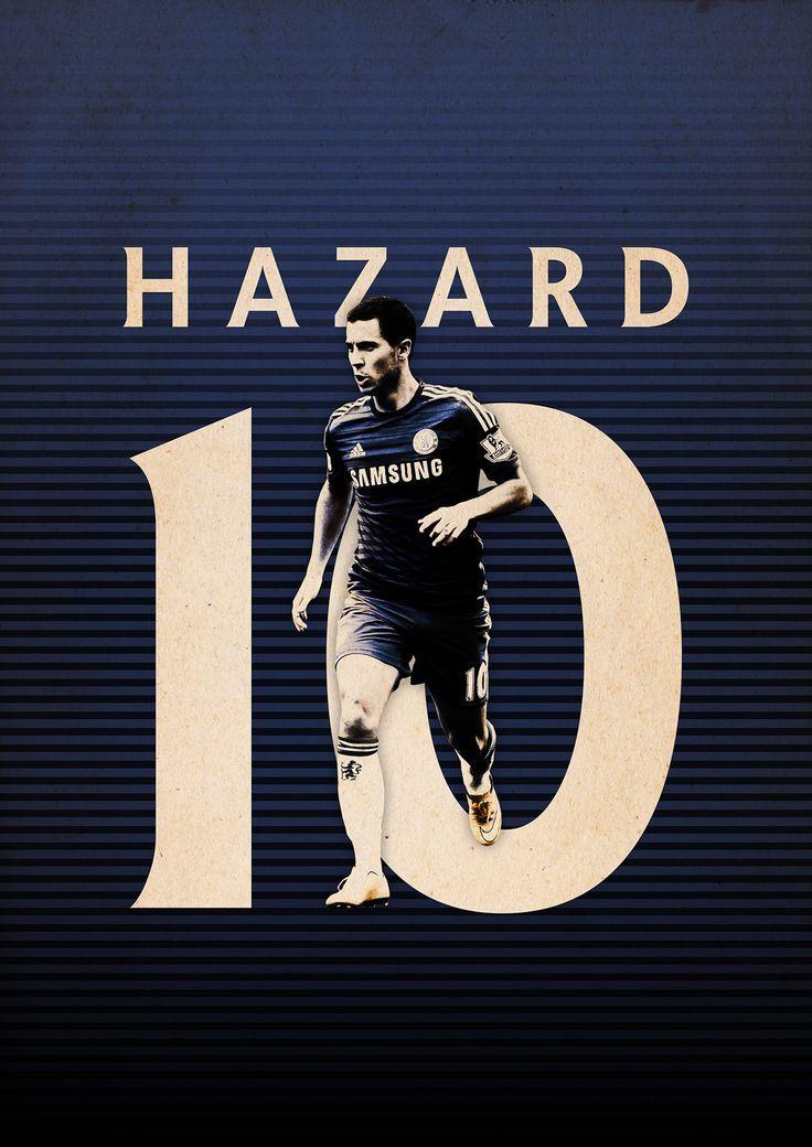 Football Posters on Behance - Eden Hazard - Chelsea FC