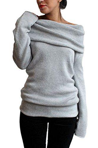 c2240e9dae04f Suvotimo Women Elegant Casual Boatneck Fleece Thick Hoodie Sweater  Sweatshirts Top
