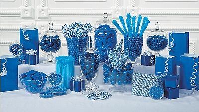 Party Supplies Blue Candy Buffet Blue Candy Buffet Silver Candy Buffet Blue Candy Table