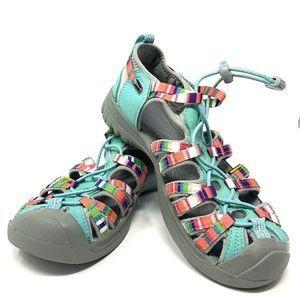 KEEN Whisper Hiking Sandals Rainbow Size 4