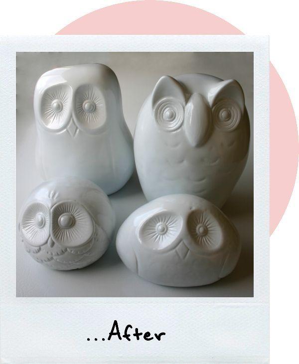 Clay owl pinterest