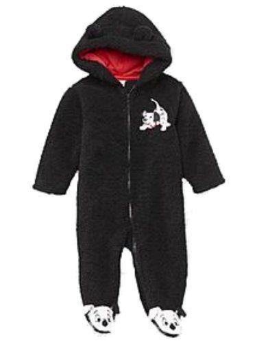 93f2e79f258 Disney Infant Boys Plush Black 101 Dalmations Snowsuit Baby Pram Snow Suit