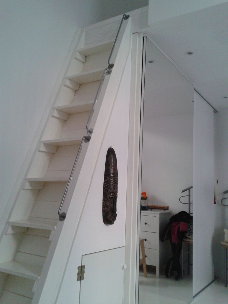 Bungalow Barn Update Loft Ladder The Lettered Cottage Tiny House Stairs Loft Stairs Attic Remodel