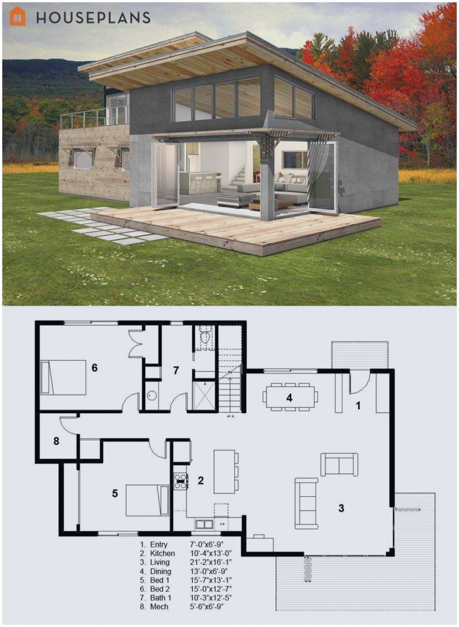 201 Small Shed Roof House Plans 2016 Modern Style House Plans Small Modern Cabin Cabin House Plans