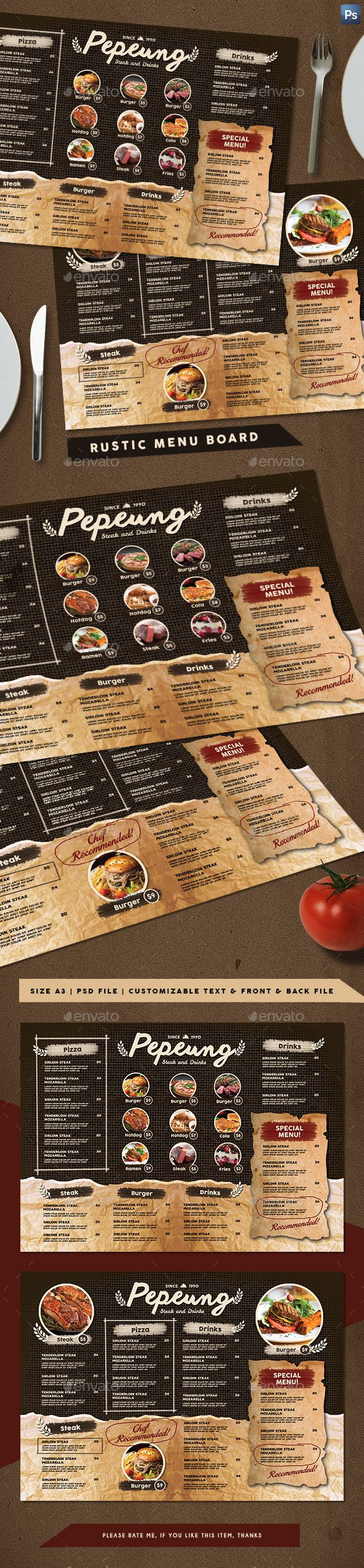Rustic Cafe Menu Board | Cafe menu boards, Rustic cafe and Cafe menu