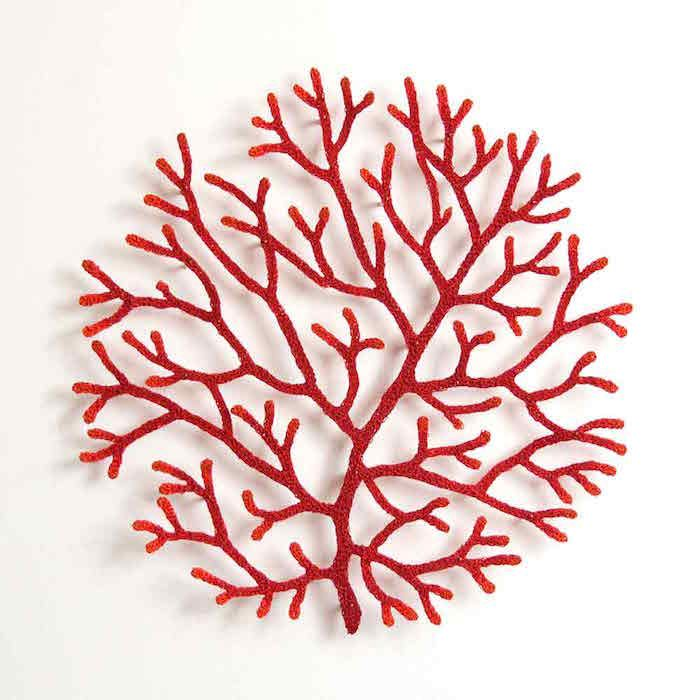 Embroidery sculpture by Meredith Woolnough