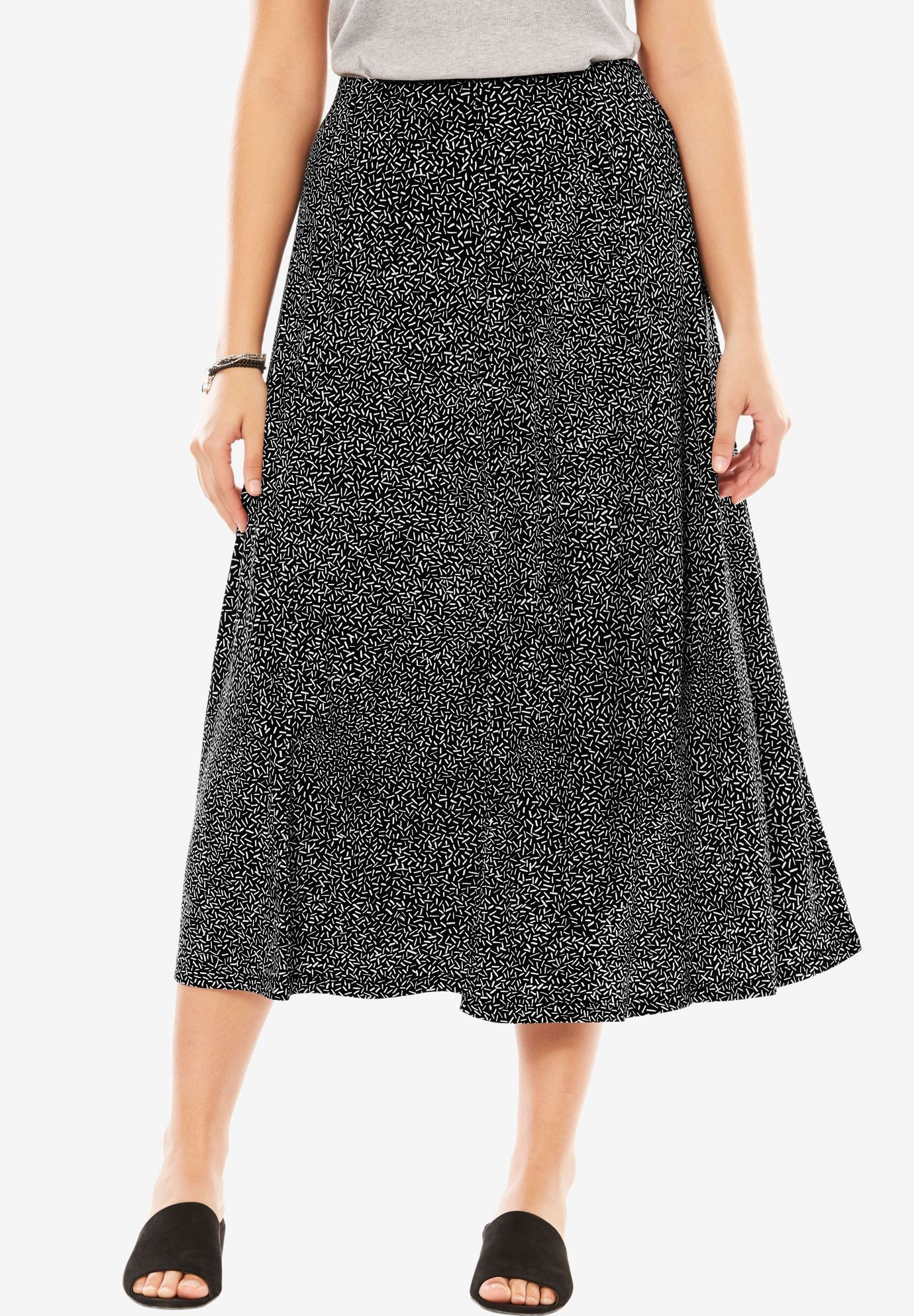 67dddd17cb A-line skirt   Plus Size Skirts   Woman Within Now: $29.99 Save 25 ...