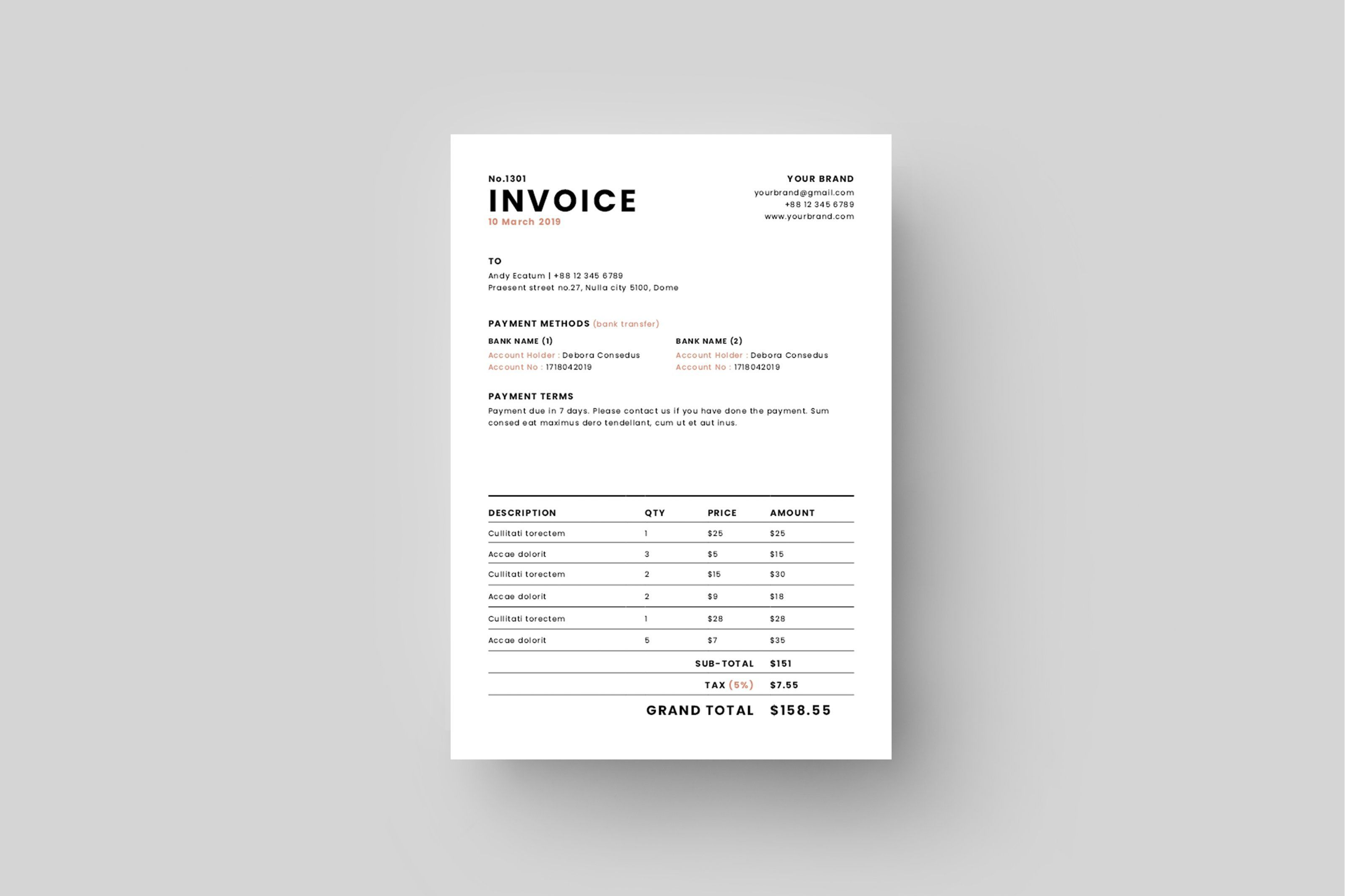 Invoice Invoice Design Stationery Templates Graphic Design Programs