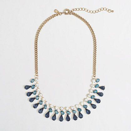 J.Crew Factory - Factory crystal teardrop necklace