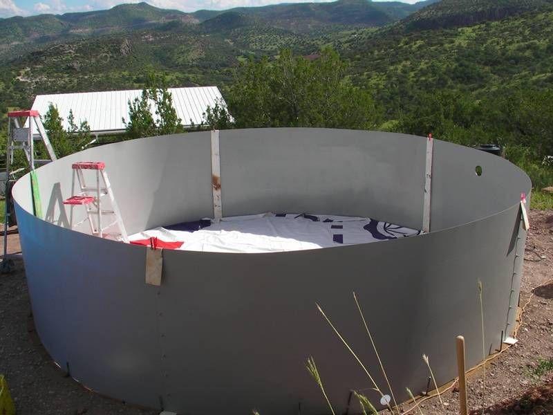 Making A Cistern Sheet Metal Walls Vinyl Liner More Nifty Water Water