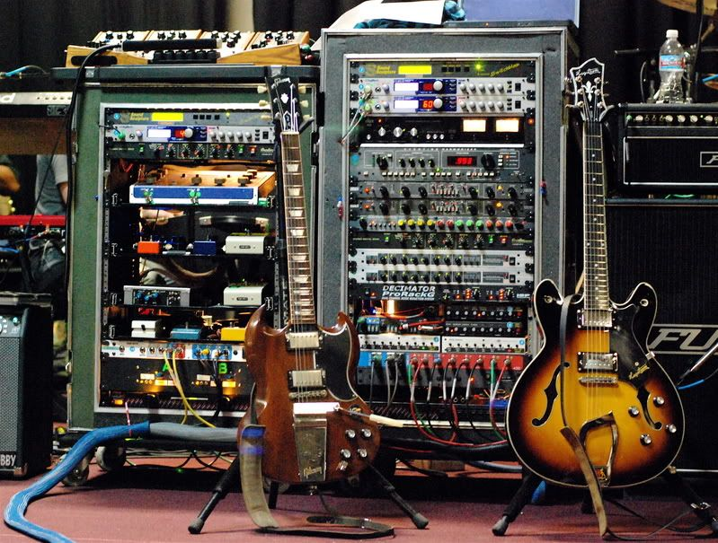 Image result for ridiculous guitar rig
