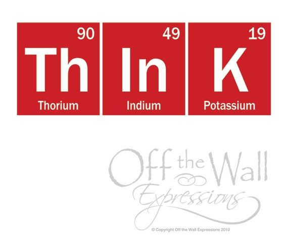Think Wall Decal Periodic Table Decal Elements Vinyl Decal