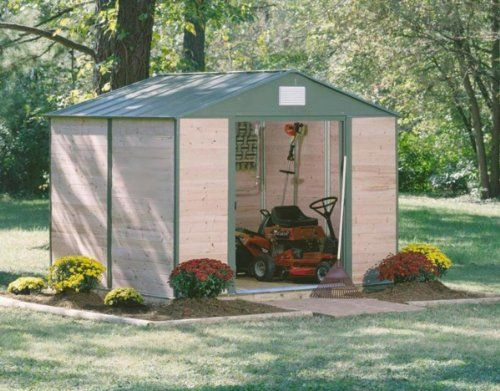 chalet jardin cedre86 abri en m tal acier bois de c dre vert 245 x 185 x 220 cm serres et. Black Bedroom Furniture Sets. Home Design Ideas