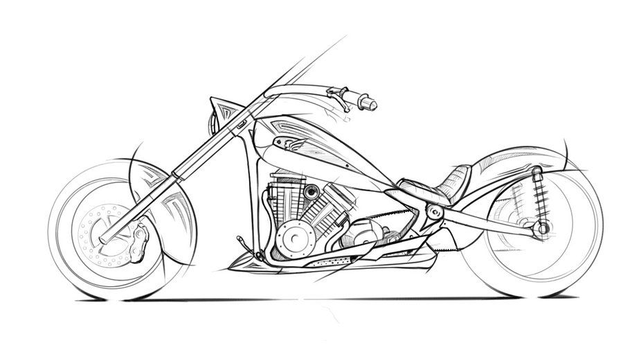 chopper bike sketch google